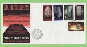 British Honduras 1972 Mayan Artifacts set First Day Cover