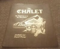The Chalet 1980's restaurant menu Sylvania Ohio COCKTAILS & SUPERB DINNING rare!