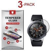 3-Pack Tempered Glass Film Screen Protector For Samsung Galaxy Watch 46mm
