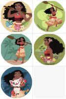Moana Stickers x 5 - Moana Birthday Party - Favours - Moana Party Supplies Loot