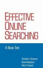 Books in Library and Information Science Ser.: Effective Online Searching...