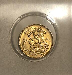 1912 Gold Half Sovereign