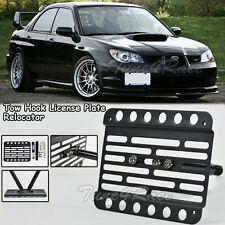 For 02-07 Subaru WRX & STI Front Bumper Tow Hook License Plate Bracket Mount
