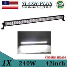 42inch 240W LED SLIM Light Bar Offroad Fog Driving Combo Truck ATV Philips 32/52