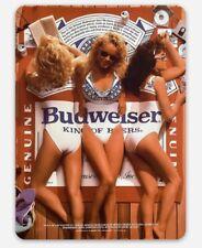 Budweiser Pinup Poster MAGNET beer fridge toolbox Bud Custom