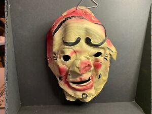 Vintage Halloween Rubber Mask, Clown