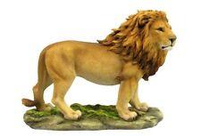 13.5 Inch Standing Lion Statue Figurine Safari Wildlife Wild Animal Figure