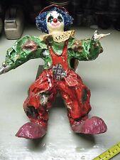 Paper Mache Clown Bindlestiff Vintage 13'' Tall