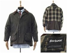 Mens BARBOUR Bedale Waxed Wax Oil Jacket Coat Hunting Green Size C42/107cm XL