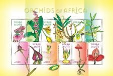 Sierra Leone- Orchids of Africa Stamp - Sheet of 6 MNH