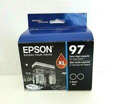 EPSON 97 Black Twin Pack Extra High Capacity Inkjet Cartridges 1097120-D2