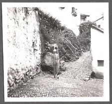 Vintage Photograph 1930'S Smooth Hair Fox Terrier Dog On Leash Old Mexico Photo
