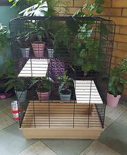 Chinchilla Cage Degu Hutch Steel Rat Degu Ferret Silver Platform Two Doors