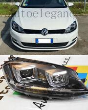 VW GOLF 7 VII 2012 IN POI FARI ANTERIORI SPORTIVI DOPPIA U LED DIURNE FANALI GTI