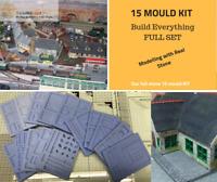 Stone Buildings Kit - 4 - FULL 15 MOULD STONE KIT - Model Railway OO Scale