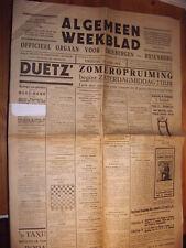 Driebergen-Rijsenburg Zeitung 26.6.1931 Niederlande Holland niederländisch