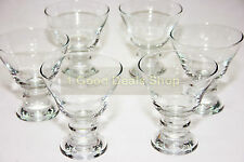 Set of 6 Clear Base Glass Bowls Ice Cream Dessert Cup Sundae Fruit Trifle 319