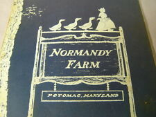 Vintage Normandy Farm Restaurant Potomac Maryland Menu