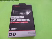 New listing Rocketfish 2-Output Hdmi Splitter 4K Ultra Hd Hdr Compatible ! Wow !