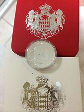 2008 monaco prince albert 5euro 12g 900% silver coin coa box rare