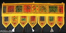 Yellow Door Window Valance Topper Toran Tapestry Ethnic Decoration Decor Art