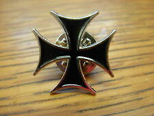Maltese cross collectable pin badge. Biker pin badge. Iron cross
