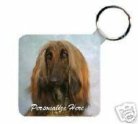 Afghan Hound Personalized Breed Key Chain