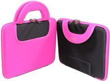 Neoprene Pink Black carrying Bag Apple ipad pouch ipad2 ipad3 case stand hard
