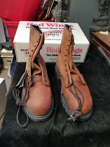 Vtg Red Wing Men's Non-Metallic Tech Toe Boots 2420 Size 8 E2 USA New in Box
