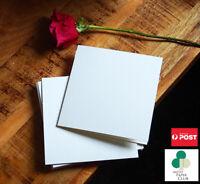 Folded Blank Cards & Envelopes Pack of 20, 6''X6''/15cm Square DIY Cards 300gsm