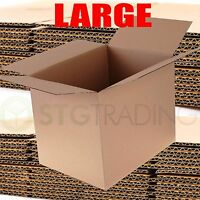 "10 x DOUBLE WALL REMOVAL CARDBOARD BOXES 24x18x18"" PACKING MAILING"