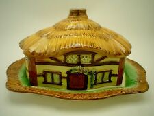 Vintage Burlington Ware Cottage House Butter Dish signed Devin Cobb