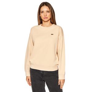 Levi's Women's Sweatshirt Standard Crew Athletic Casual Fashion Beige 24688-0026