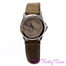 Commemorative Genuine 1930s Buffalo Nickel Indian Head 5 Cent Coin Leather Watch