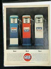 1963 Gulf Oil Advertisement Gas Pump Gulftane.Good Gulf,Gulf No-Nox Print AD
