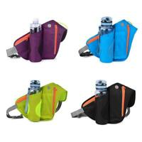 Outdoor Sport Belt Waist Pack Pouch Water Bottle Holder Bag For Running Hiking