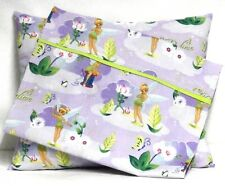 Tinkerbell Toddler Pillow and Pillowcase on Lavender Cotton #Tb19 Handmade