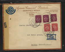 Portugal nice ad censor cover to Us 1944 Kl0111
