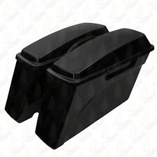New Unpainted Hard Saddle bags Saddlebags For Harley Dyna Super Glide Low Rider