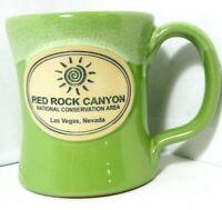 NEW Red Rock Canyon National Park John Deneen Pottery Coffee Mug Green 2018