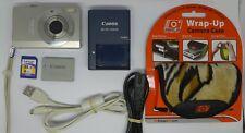Canon IXUS 90 IS 10.0MP Digital Camera - Silver + 4 GB Memory Card + Case