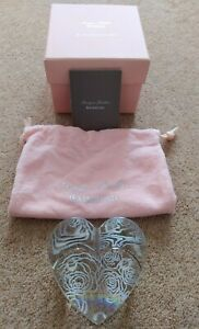 WATERFORD CRYSTAL MONIQUE LHUILLER SUNDAY ROSE PAPERWEIGHT IN PRESENTATION BOX
