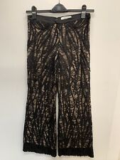 ALEXIS BLACK LACE OVERLAY PANTS/SLACKS Lace S