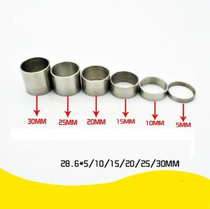 "6 pcs Titanium Ti Bicycle Headset Spacer 1-1/8"" (5 - 10 - 15 - 20 -25 -30mm)"