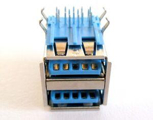 Connecteur à souder Double USB 3.0 femelle type A Female connector to solder