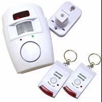 Wireles Motion Sensor sor Alarm PIR + 2 Remote Control Battery Shed Garage Van