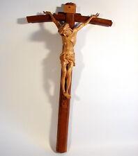 Christus Korpus Linde handgeschnitzt Eichenkreuz Kreuz Christ on Croix