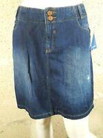 C&A  Taille 44 NEUF Superbe jupe en jeans jean denim bleu brut skirt