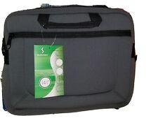 "SUMDEX Neoart Neoprene Slim Brief Case Gray Zip Close Fits 14.1"" Laptops"