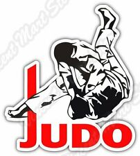 "Judo Martial Arts Fight Sport Car Bumper Vinyl Sticker Decal 4.5""X5"""